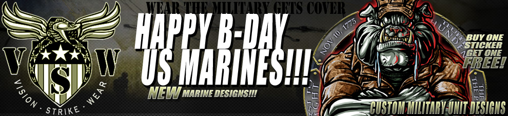 Marine Birthday and BOGO Decals